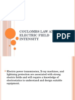 Coulombs Law and Electric Field Intensity
