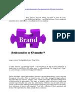 Brand Chart vs Brand Ambassador
