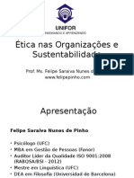 Ética Nas Organizações e Sustentabilidade
