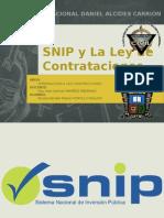 SNIP y La Ley de Contrataciones