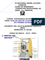 Diap. Manejo de E. T. Trimble M3 (6ta a) - 2015A