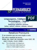 ProfessorAutor-Inglês-Inglês Ι 9º Ano Ι Fundamental-Defining Relative Clauses (Who, Which, Where, Whose, When)