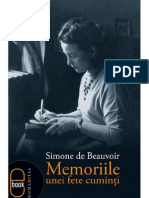 Beauvoir Simone de Memoriile Unei Fete Cuminti PDF PDF