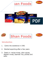 Presentation of Shan Foods