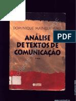 127964024 MAINGUENEAU Dominique Maingueneau Analise de Textos de Comunicacao PDF