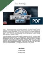 Jurassic World The Game Pirater Apk