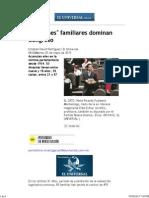 88 _clanes_ Familiares Dominan Congreso