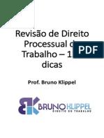 Revisão Processo Do Trabalho Dicas Bruno Klippel