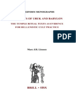 (Cuneiform Monographs 25) Marc J. H. Linssen-The Cults of Uruk and Babylon_ the Temple Ritual Texts as Evidence for Hellenistic Cult Practises (Cuneiform Monographs)-Brill Academic Publishers (2003)