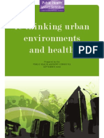 Rethinking Urban Environments and Health - PHAC New Zealand - 2008