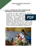 La Ley General Del Patrimonio Cultural de La Nación
