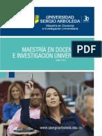 Brochure-maestria Docencia Universitatria