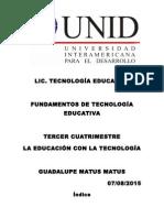 FUNDAMENTOS DE TECNOLOGÍA EDUCATIVA