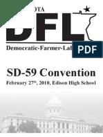 SD59 DFL 2010 Convention Program