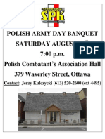 Polish Army Day Banquet