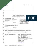Bradburn et al v. North Central Regional Library District - Document No. 44