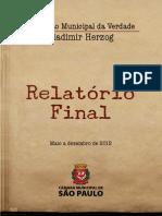 Relatório Final Da Comissão Municipal Da Verdade Vladimir Herzog