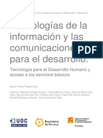Tecnologías de la información y las comunicaciones para el desarrollo. Agustín Pérez-Foguet.