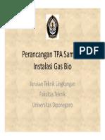 Week 11 Perancangan TPA Sampah (Gas Bio)
