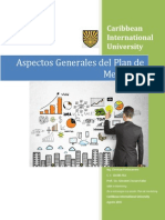Aspectos Generales del Plan de Mercadeo