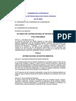 Ley Marco del Sistema Nacional de Gestión Ambiental.pdf