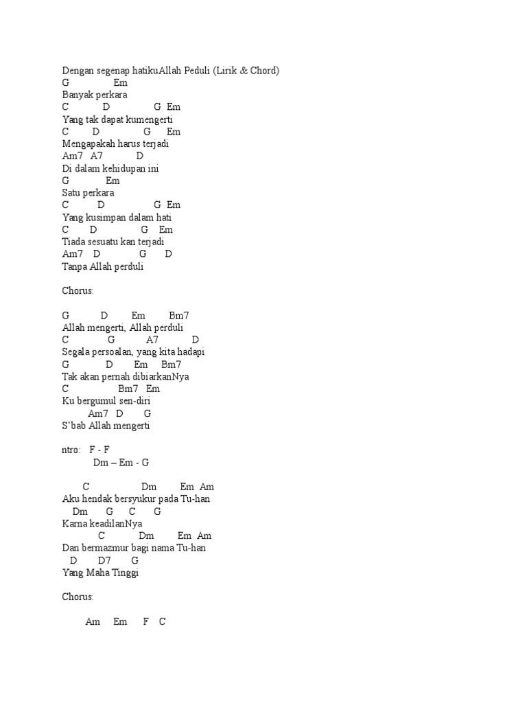 chord lagu penyembahan rohani kristen
