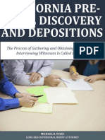 California Pre Trial Discovery and Depositions
