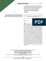 adenoid radiologic measurement