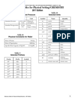 chemistry reference table