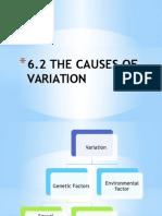 6.2 - 6.3 Variation in Organism