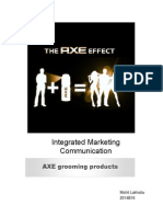 Integrated Marketing Communication of AXE by MohitLakhotia