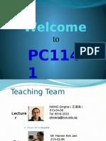 PC1141 L01 Introduction