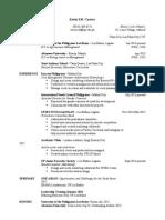 Sample Resume for Sig Sheet