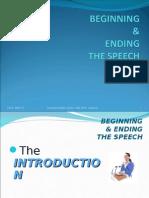 Beginning & Ending the Speech