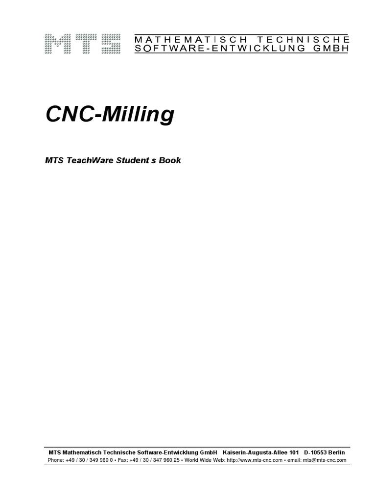 cnc milling numerical control simulation