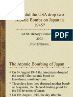 bombimg of Hiroshima and Nagasaki