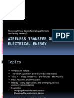Wireless Transfer of Electrical Energy