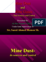 Mine Gases and Mine Dust(Their Sources and control)