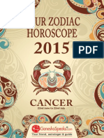 CANCER - Your Zodiac Horoscope 2015