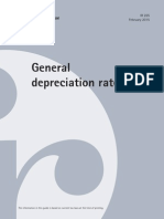 general depreciation rates