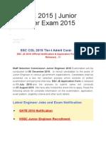 Ssc Je 2015 - Information