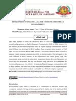 DEVELOPMENT OF ENGLISH LANGUAGE COMMUNICATION SKILLS IN B.ED STUDENT
