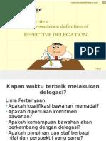 delegasi yg efektif