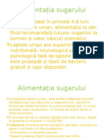 Alimentatia Naturala, Mixta Si Diversificarea Sugarului