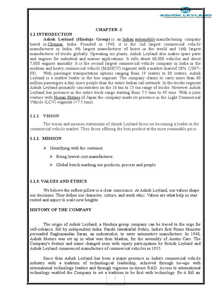 ashok leyland | Audit | Working Capital