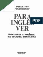 Para Inglês Ver - Identidade e Politica Na Cultura Brasileira