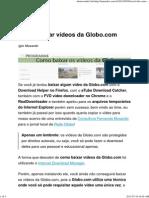 Internet Download Manager - Como Baixar Vídeos Da Globo.com