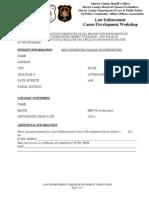 Fall 2015 NJPCAOA Law Enforcement Career Development Course