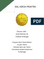 PROPOSAL KERJA PRAKTEK Chevron Geothermal Indonesia