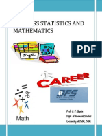 Course Outline - Business Statistics and Mathematics - MFC-2011